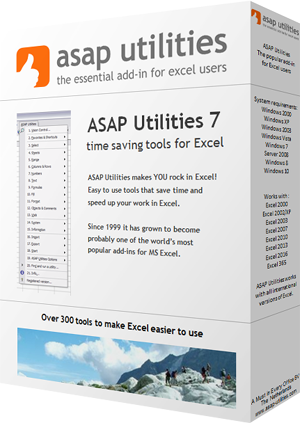 ASAP Utilities makes YOU rock in Excel